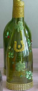 DIY luck themed decorative bottles